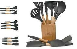 10PCS Kitchen Utensil Set with Holder for Non-stick Cookware