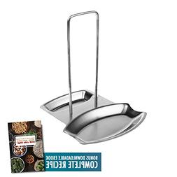 Lid and Spoon Rest, 18/8 Anti Rust Stainless Steel Pot Lid H