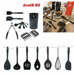 18 pcs kitchen silicone utensil holder sets