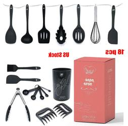18 PCs Silicone Utensil Holder Sets Cooking kitchenware Heat