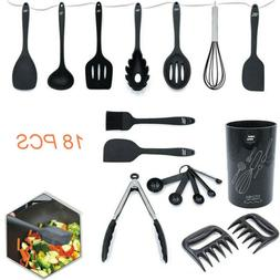 18pcs Silicone Cooking Utensil Set Kitchen Spatula Spoons To