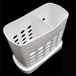 2 Divided Cutlery Storage Holder Spoon Chopsticks Basket Kit