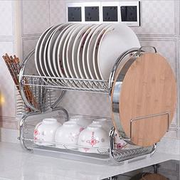 2 tier stainless steel dish