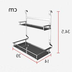 304 stainless steel double spice rack, kitchen corner frame,