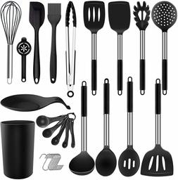 30PCS Kitchen Utensil Set, Silicone Cooking Utensils with Ho