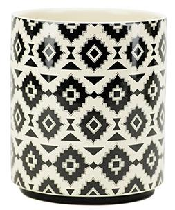 Boston Warehouse 36798 Utensil Crock, Bohemian Print-Black