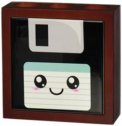 3dRose ph_57456_1 Kawaii Cute Happy Floppy Disk-Retro comput