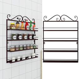 Vividy 4 Tier Wall Mounted Spice Rack, Kitchen Bathroom Cond