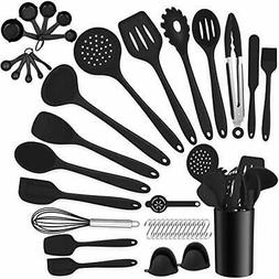 42 Pieces Cooking Utensils Set with Holder, Silicone Kitchen