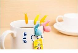 5pcs snail tea bag holder comfortable house