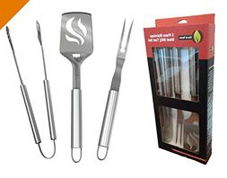 BBQ Grilling Tools Set - Heavy Duty 20% Thicker Stainless St