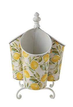 Creative Co-op Rotating With Three Compartments Lemon Trees