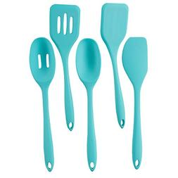 FortheChef 5 Piece Silicone Utensil Set, Blue