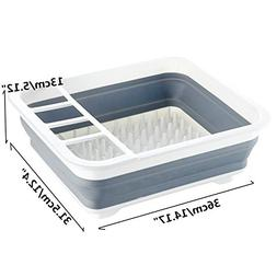 Morrenz - Foldable Kitchen Plate Dish Cup Rack Utensil Cutle