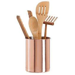 Oggi 7059.12 Copper Plated Stainless Steel Utensil Holder, S