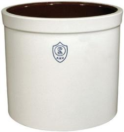 White Small Ohio Stoneware 02436 2 Gallon Bristol Crock