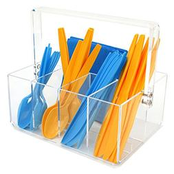 Paylak CNT410 Caddy for Utensils Carrier Acrylic- Forks Spoo
