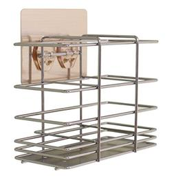Removable Wall Adhesive Metal Wire Flatware Holder/Drainer o