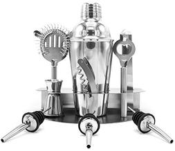 Sorbus Cocktail Shaker and Mixing Set - Deluxe 10 Piece Bar