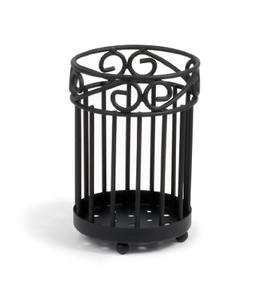 Spectrum Diversified Scroll Utensil Holder, Black