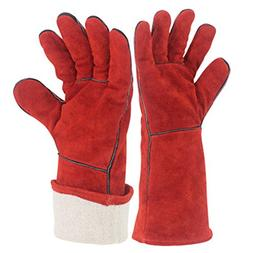 YAOBAO Fire Resistant Gloves,Perfect For Fireplace, Stove, O