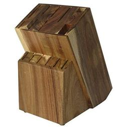 15 Slot Acacia/Rubber Wood Knife Block Without Knives By Con