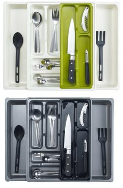 ADJUSTABLE EXPANDING PLASTIC DRAWER CUTLERY UTENSIL TRAY ORG