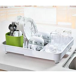 Adjustable Folding Plastic Dish Drying Rack Enamel Utensil H