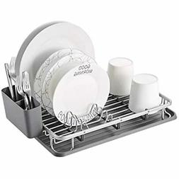 Aluminum Dish Drying Rack With Utensil Holder, Drainboard Fo