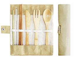 Bamboo Cutlery Set,Travel Cutlery Set,Bamboo Travel Utensils