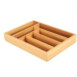 bamboo drawer organizer cutlery tray utensil flatware