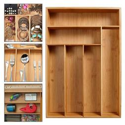 Bamboo Spoon <font><b>Cutlery</b></font> Box Kitchen Drawer