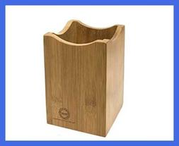 Bamboo Utensil Holder or Caddy for Kitchen Tools. Perfect Or