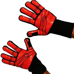 Cave Tools BBQ Glove Oven Mitts - Max Heat Resistant Grill &