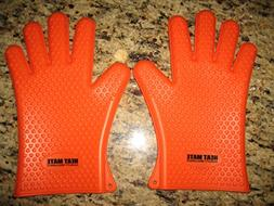 Bbq Gloves Heat Resistant - Silicone Oven, Baking, Smoking,