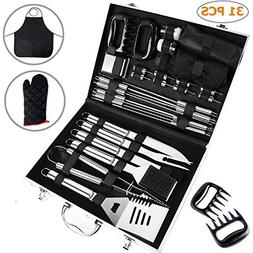 Ohuhu BBQ Tools Set, 31-Piece Grill Tools Set, Heavy Duty St