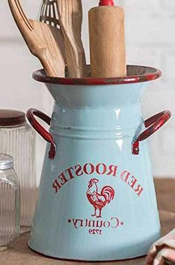 Blue Country Rooster Pitcher/Utensil Holder/Vase. NWT