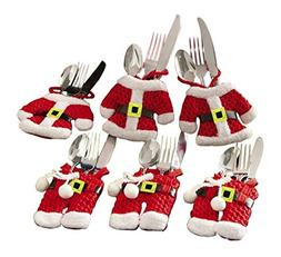 bouti1583 Pack of 6 Santa Claus Christmas Cutlery Tableware