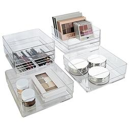 "Break-Resistant Plastic Drawer Organizers 6"" x 6"" x 2"" l Set"