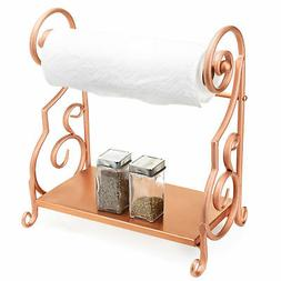 MyGift Bronze-Tone Metal Countertop Paper Towel Holder with