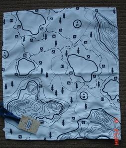 Camping Fabric Kitchen Utensil Holder Roll Bag - Map