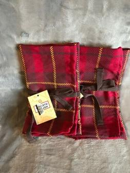 Camping Fabric Kitchen Utensil Holder Roll Bag - Red Plaid