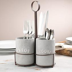 KOVOT Cement Utensil Caddy Set | Includes  Cement Covered Ce