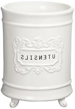 Mud Pie Circa Utensil Holder, White