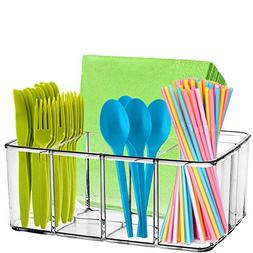 Clear Supplies Utensil Caddy Organizer - 5 compartment acryl