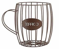 Miles Kimball Coffee Cup Wire Basket, Brown, One Size Fits A