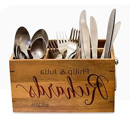 cool Silverware Caddy, kitchen Utensil Holder,Personalize Ki