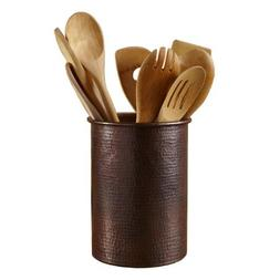 Native Trails Copper Spatula/Utensil Holder, 7 Inch by 6 Inc