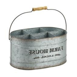 country rustic metal buffet Caddy Wine bottle Holder carrier