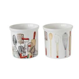 Creative Co-Op Stoneware Utensil Holder